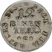 1/12 Thaler - George III – revers