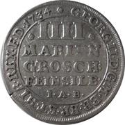 4 Mariengroschen - George II August – avers