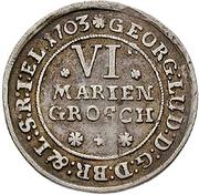 6 Mariengroschen - George Ludwig – avers