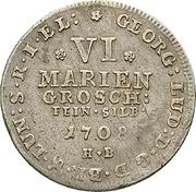 6 mariengroschen  George Louis – avers