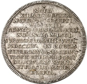 1 thaler Georg I Ludwig (Mort de Sophia du Palatinat) – revers
