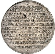 1 thaler Georg I Ludwig (Mort de Georg I Ludwig) – revers
