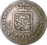 ⅙ Thaler - George III – revers
