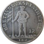 ⅓ thaler Georg II – revers
