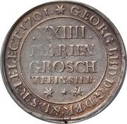 24 Mariengroschen - George I – avers