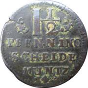 1½ pfenning - Georg II Wilhelm – revers
