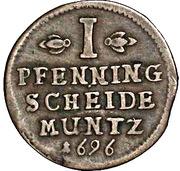 1 Pfenning - Georg II Wilhelm – revers