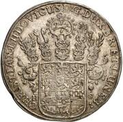 1 thaler Christian Ludwig ( mort de Christian Ludwig) – avers