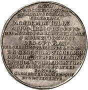 1 thaler Georg Wilhelm (100ème anniversaire de l'Université de Helmstedt) – revers