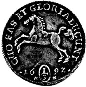 ⅓ thaler Georg Wilhelm – revers