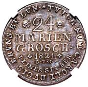 24 mariengroschen Karl II – revers