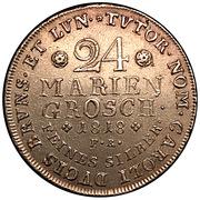 24 mariengroschen George IV, Karl II – revers