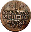 1 pfennig Karl II – revers