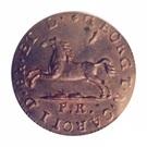 1 pfenning Karl II – avers