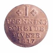 1 pfenning Karl II – revers