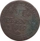 6 pfennig Karl II – revers