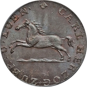 1 pfennig  Charles II -  avers