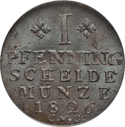 1 pfennig  Charles II – revers