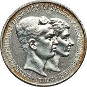 3 Mark - Ernst August (Mariage avec Viktoria Luise) – avers