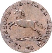 2 pfennige Karl II – avers