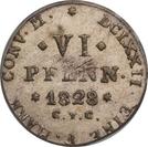 6 pfennige - Karl II – revers
