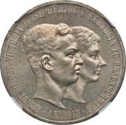 5 Mark - Ernst August (Mariage avec Viktoria Luise) – avers