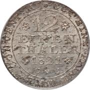 1/12 thaler - George IV Regent – revers
