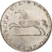 1/12 thaler - Karl II – avers