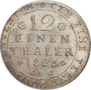 1/12 thaler - Karl II – revers