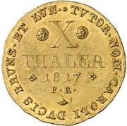 10 thaler Friedrich Wilhelm – revers