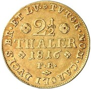 2½ thaler Georg IV – revers