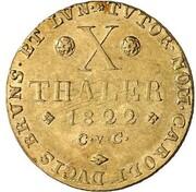 10 thaler Georg IV – revers