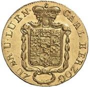 5 thaler Karl II – avers