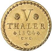 5 thaler Karl II – revers