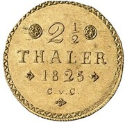 2½ thaler Karl II – revers