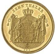 10 thaler Karl II – revers
