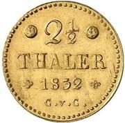 2½ thaler Wilhelm – revers