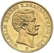 1 krone Wilhelm – avers