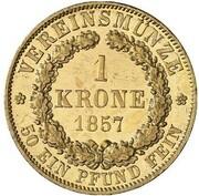 1 krone Wilhelm – revers