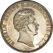 2 Thaler / 3½ Gulden - Wilhelm (25ème anniversaire de règne) – avers
