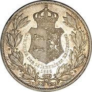 2 Thaler / 3½ Gulden - Wilhelm (25ème anniversaire de règne) – revers