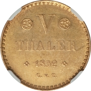 5 Thaler - Wilhelm – revers