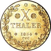 10 Thaler - Wilhelm – revers