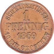 1 Pfennig - Wilhelm – revers
