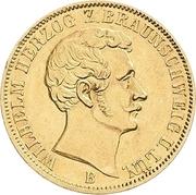 1 Krone - Wilhelm – avers