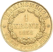 1 Krone - Wilhelm – revers