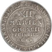 12 mariengroschen - Karl Wilhelm Ferdinand – avers