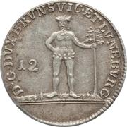 12 mariengroschen - Karl Wilhelm Ferdinand – revers
