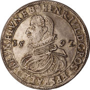 1 thaler Heinrich Julius – avers