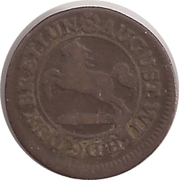 1 Pfennig - August Wilhelm – avers